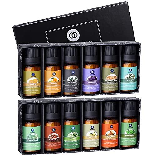 Essential Oil Sets-Lagunamoon 12 Pcs Upgraded Premium Essential Oils...