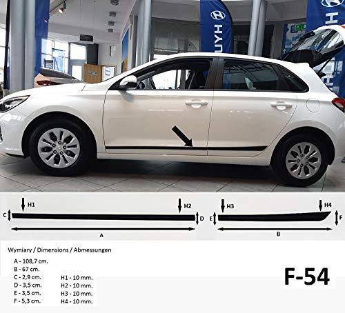 Spangenberg Barres de protection latérales noires pour Hyundai i30 III type PD à partir de l'année de construction 01.2017- F54 (370005401).