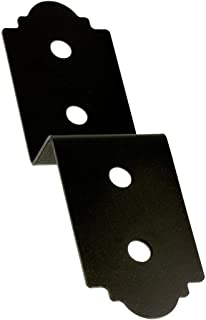 Simpson Strong-Tie Outdoor Accents Z-MAX Galvanized Steel Black Powder-Coat Deck Joist Tie for 4x Post Rough