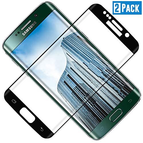 TOCYORIC Protector de Pantalla para Samsung Galaxy S7 Edge, 3D Curvo Full-Cover Cristal Templado S7 Edge, Alta Definicion, 9H Dureza, Vidrio Templado para S7 Edge [2 Pack]
