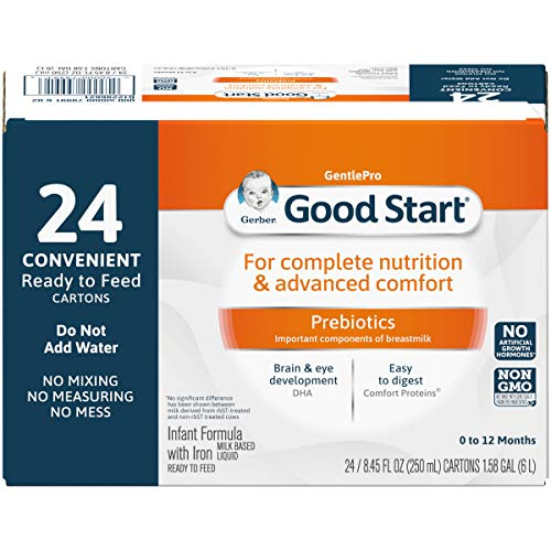 Gerber Good Start GentlePro, Prebiotics, Non-GMO Ready to Feed Infant Formula Stage 1, 8.45 Ounces (Pack of 24)