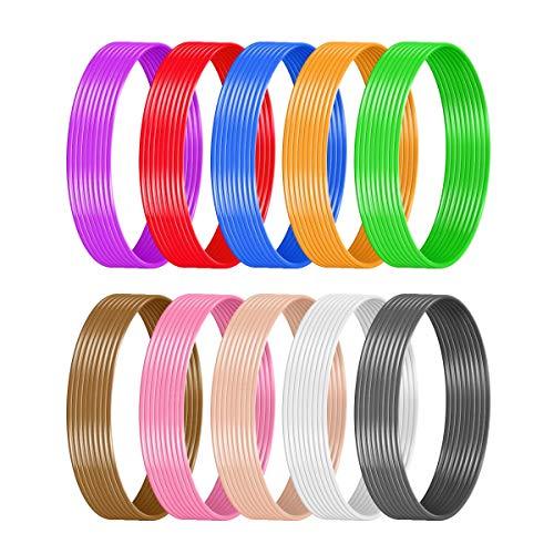 SUNLU 3D Pen Filament 3D Printer Filament 1.75mm, PLA Filament Total 10 Colors, 17 Feet Each Color, Total 170 Feet Lengths