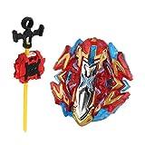 perfeclan Juguete de Peonza de Batalla con Lanzador Gyro 4D Juego de Girocompás de Lucha Rapidez - Buster Xcalibur.1.Sw B-120