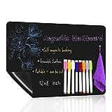 UCMD Pizarra magnética para nevera con 8 marcadores de tiza de color, calendario de pizarra de borrado en seco (12 x 8 pulgadas)