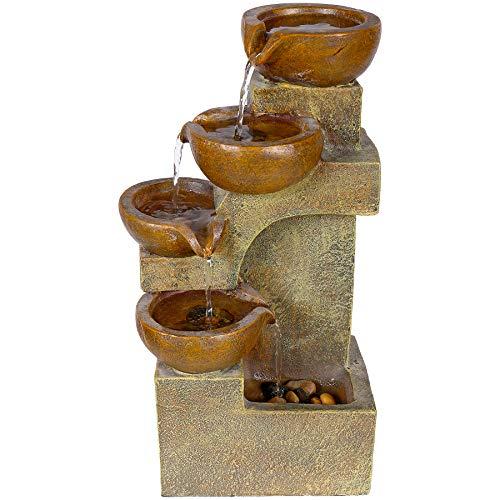 Alpine Corporation 41 cm Tall Indoor/Outdoor Tabletop 4-Tier Pouring Pots...