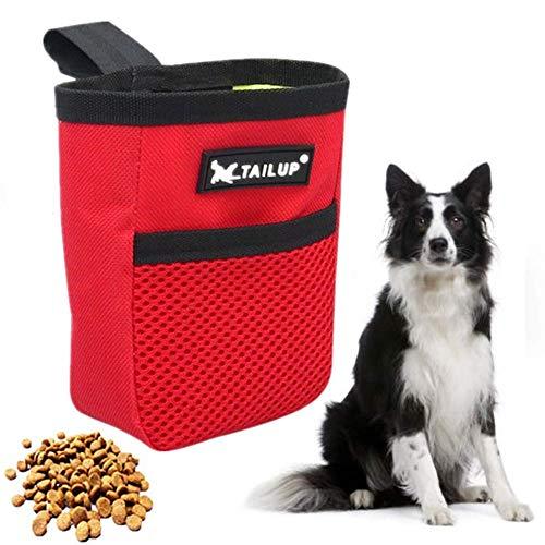 jingxiaopu Bolsa Premios Perro Bolsa De Cintura Mascota Perro Perro Tratamiento De Cintura Bolsa Bolso Perro PequeñO Bolsa De Comida Multifuncional Lavable Pasear Al Perro Red