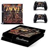 Pegatinas de vinilo FENGLING Game Bloodborne Ps4 Play Station 4 Skin Ps 4 calcomanía Cover para Playstation 4 PS4 consola y controladores Skins