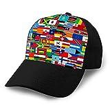 LJKHas232 701 Gorras de béisbol, Sombreros Militares, Sombreros de papá para el día del Padre, Set de Regalo de acción de Gracias Marca Todos los países en Sombreros de Moda