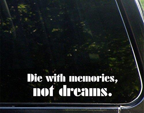 Divertidas pegatinas para motocicletas troqueladas con recuerdos no sueños, para coche, portátil, 22,86 cm