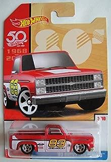Hot Wheels 80s, RED '83 CHEVY SILVERADO 3/10 50TH ANNIVERSARY
