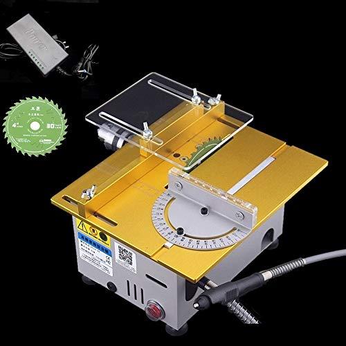 Professional Tischkreissäge/DIY Mini Tischkreissäge/Holzbearbeitung Modellschneidemaschine/Tischgröße 240 X 200 X 130mm Gold