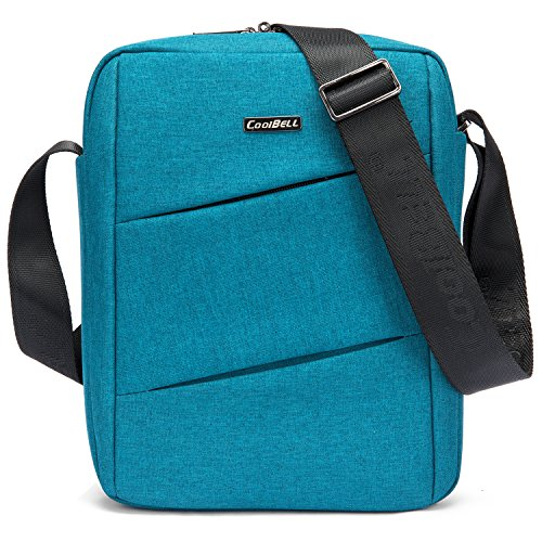 CoolBELL 10.6 inch Shoulder Bag Carrying Day Bag with Adjustable Shoulder Strap Simple Style Sleeve Case for Tablet/iPad (Teal)