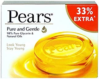 Pears Pure & Gentle Soap Bar 75 g with 33% Extra - Pack of 3