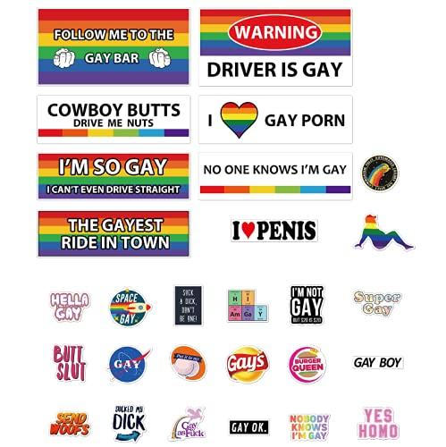 28 Pcs Original Funny Gay LGBT Prank Bumper...
