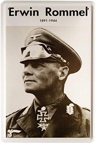 Blechschild Erwin Rommel 20 x 30 cm Reklame Retro Blech 1287