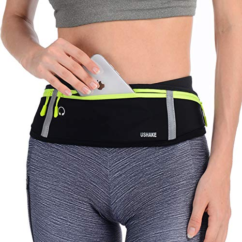 Slim Running Belt, Bounce Free Pouch Bag, Fanny Pack Workout Belt Sports Waist Pack Belt Pouch for Apple iPhone XR XS 8 X 7+ Samsung Note Galaxy in Running Walking Cycling Gym-03