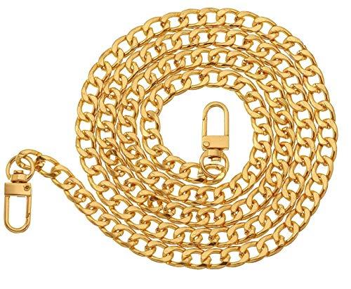 Kette Trageriemen Schulterriemen Metall Ersatz Tragegurt Schultergurt für Damen Tasche Handtaschen (Gold)