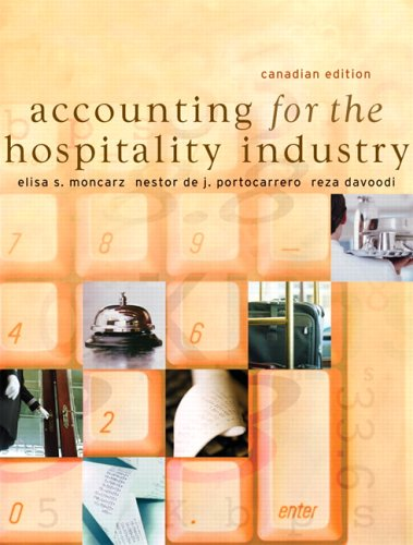 Accounting for the Hospitality Industry, Canadian Edition
