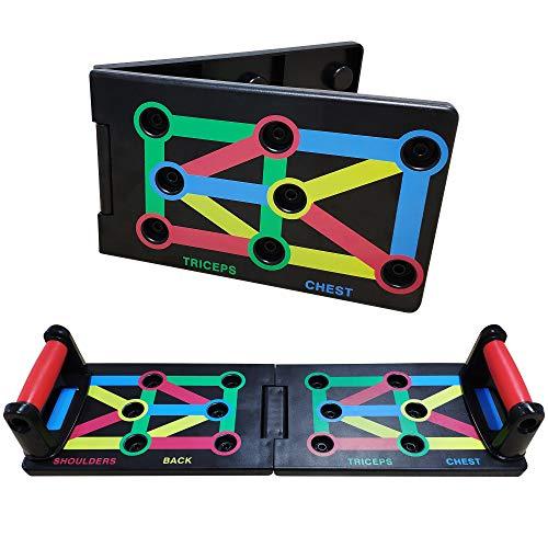 S.C. tech Push Up Tabla Board Plegable 9 en 1 Power Press Sistema Soportes Flexiones para el Aptitud Ejercicio Entrenamiento Muscular del Cuerpo Deporte Gimnasio