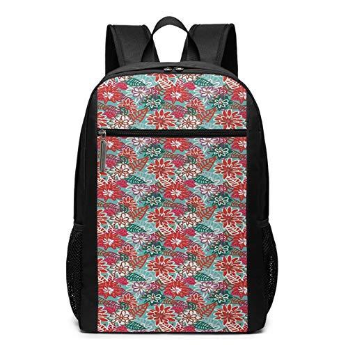 OMNVEQ Mochila Escolares Petals Leaf Spring Season, Mochila Tipo Casual para Niñas Niños Hombre Mujer Mochila para Ordenador Portátil Viaje