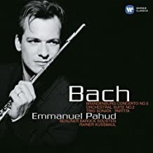 Bach Brandenburg Concerto No. 5, Orchestral Suite No. 2/ Emmanuel Pahud