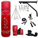 Saco de boxeo pesado MADX con relleno de 152,4 cm (incluye cadena, soporte, guantes y...