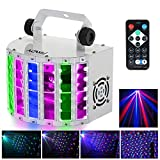 Lixada LED Disco Lights Sound Activated Stage Lighting 24W RGBW 6 Channel DMX