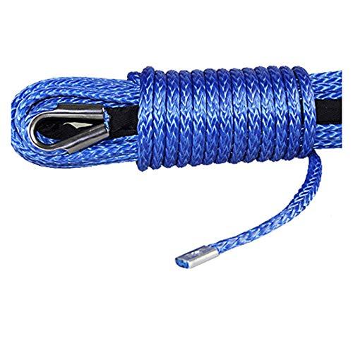 MINGMIN-DZ Cuerda de cabrestante 10mm * 28m Molécula Ultra-Alta Recolección De La Cuerda De La Cuerda del Tractor De La Cuerda del Tráiler De La Cuerda Accesorios de cabrestante (Color : Red)
