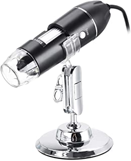 Goolfly Wireless Digital Microscope 1600X USB Charging Handheld Magnifier Endoscope Camera 8 LED Compatible with Android a...