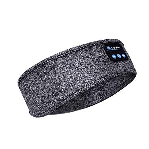 Cuffia Senza Fili Bluetooth Cuffia Con Fascia Per Il Sonno Cappello Morbido E Caldo Sportivo Cappellino Intelligente Cuffia Con Cuffia Stereo Con Microfono Upgrade Grigio