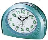 CASIO TQ-358-3EF - Reloj Despertador analógico de Cuarzo con Correa de Acero Inoxidable, Color Azul