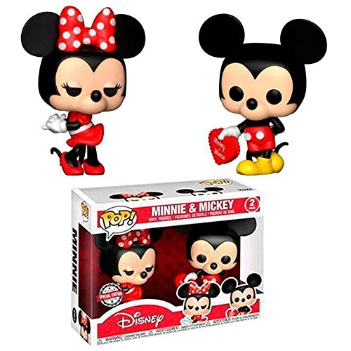 Set 2 Figuras Pop! Disney Valentine Mickey & Minnie Exclusive
