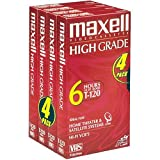 Maxell HG T-120 VHS Tape (4-Pack) (Discontinued by Manufacturer)