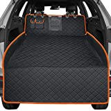 URPOWER Dog Trunk Cargo Liner with Mesh Visual Window Car SUV Seat Cover 100% Waterproof Dog Seat Cover Nonslip Pet Cargo Cover Washable Durable SUV Cargo Liner with Storage Pockets for Truck and SUV