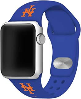 GAME TIME New York Mets Silicone Sport Band Compatible with Apple Watch 38mm/40mm Royal Blue
