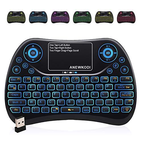 ANEWKODI Aneekodi AZERTY Mini-Tastatur, R-Layout, klar, kabellos T2-Mini Clavier T2
