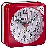 Technoline Geneva S - Despertador de Cuarzo, Color Rojo Impo