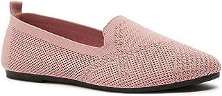 Shoexpress Women's Textured Slip-On Ballerina Shoes