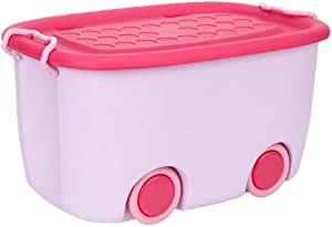 AIflyMi Children s Colorful Toy Box Kids Boys Bedroom Storage Toy Box Playroom Laundry