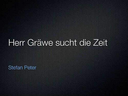Herr Gräwe sucht die Zeit (German Edition)