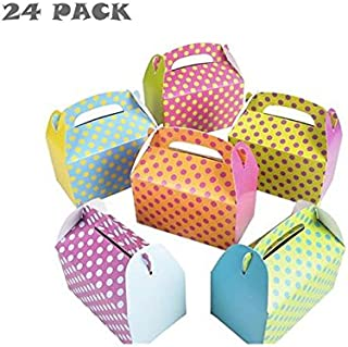 Colorful Polka Dot Party Favor Treat Boxes (Two Dozen)