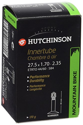 HUTCHINSON Cámara MTB CV657301, Schader, 27.5 x 1.70-2.35, Unisex Adulto, Negro, 27,5 x 1,70/2,35 (48-584 à 62-584)
