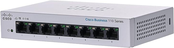 Cisco スイッチングハブ 8ポート 法人向け| ギガビット | 金属筐体 | 設定不要 | 静音ファンレス| 制限付きライフタイム保証 Cisco Business Switch 110 CBS110-8T-D
