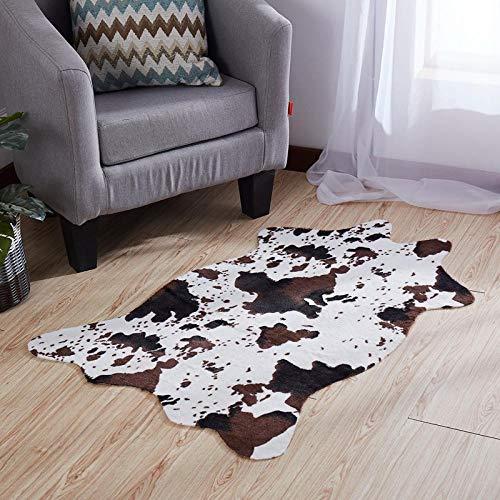 Tappeti Tappeto Zebrato Super Morbido Tappeto in Mucca di Seta Coperta Moderna Coperta Camera da Letto Tappeto Antiscivolo Morbido 75 Cm * 110 Cm Opaco-75X110Cm_Mucca