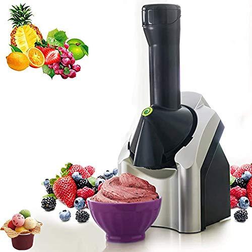 AMZBEST Eismaschine, Tragbare Softeismaschine Für Kinder, BPA Free Fruit Softeismaschine, Make Delicious Ice Cream Sorbets, Frozen Dessert Maker Für Soft Dairy Fruit (Nero)