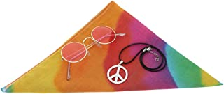Baoblaze 3pcs Peace Sign Hippie Colors Necklace Party Cosplay Jewelry Set