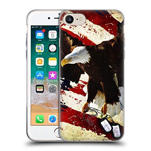 Head Case Designs Licenza Ufficiale Jason Bullard Il Prezzo della libertà America Cover in Morbido Gel Compatibile con Apple iPhone 7   iPhone 8   iPhone SE 2020