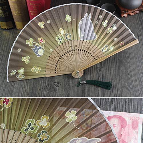 うちわ 日本のファン、扇子、日本のファン、日本の女性ファン、日本の有名な絵画、シルクファン、ギフトファン (Color : B)