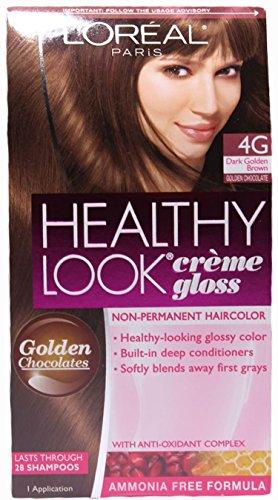 L'oreal Paris Healthy Look Crème Gloss, 4g Dark Golden Brown/golden Chocolate