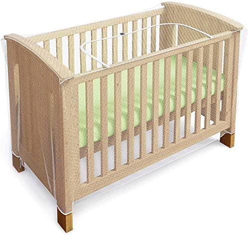 Mosquitera para cuna universal - Antimosquitos bebé - Red mosquitera plegable para la cama o minicuna - Mosquitera viaje transparente con cremallera para acceso fácil al bebé (de Luigi's)